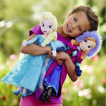 New Elsa Anna Plush Doll 40cm Princess Doll Plush Toys Brinquedos Kids Dolls for Girls