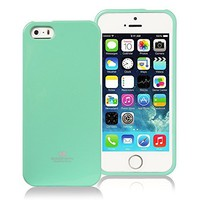 EVERMARKET(TM)Rubber Skin Case Compatible with Apple® iPhone® 5 / 5S, Mint Green Jelly