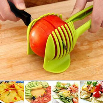 DCCKL72 hot sell Hand-held Lemon Onion Tomato Fruit Slicer Chopper Cutter Food Clips Kitchen Tool