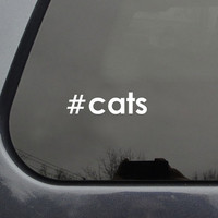 FREE SHIPPING hashtag cats car sticker #cats
