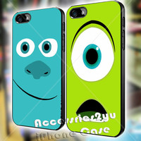 Monsters University James Sullivan Mike Wazowski Couple iPhone 4, iPhone 4s, iPhone 5, iPhone 5s, iPhone 5c, Samsung Galaxy S3, S4 Case