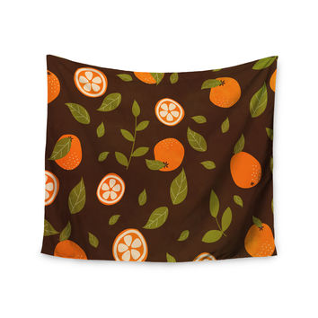 "Strawberringo ""Orange Pattern"" Abstract Food Wall Tapestry"