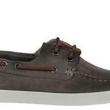 Lacoste Mens Boat Shoes Keellson 2 Light Brown Suede