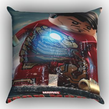 Lego Super Heroes Zippered Pillows  Covers 16x16, 18x18, 20x20 Inches