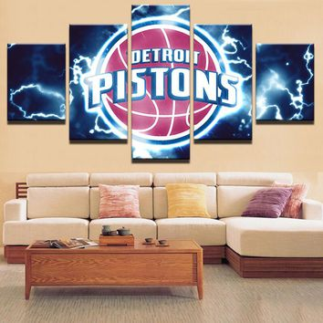 Home Decor Print Canvas Oil Painting Vintage Wall Art Canvas Painting 5 Pieces Sports Wall Picture For Living Room Wall Decor