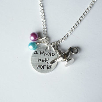 Disney's Aladdin Inspired Necklace. A Whole New World.