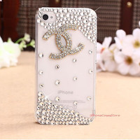 iPhone 5 case, Cute iPhone 4s case, Bling iPhone 5 Case, Crystal bow iPhone 4 case, Unique iphone 5 case, Cute iphone 5 case skin cover