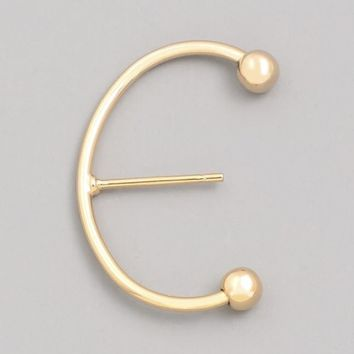 Thin C Stud Earring
