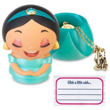 Kidada for Disney Store Wish-a-Little Jasmine Figure with Charm Necklace | Jewelry | Disney Store