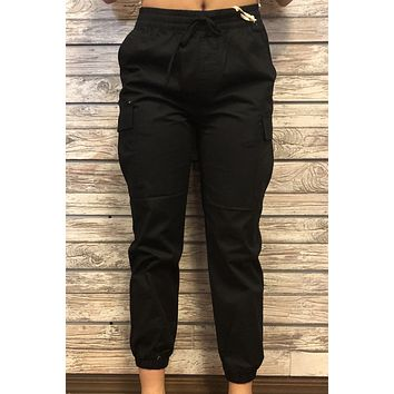 Just Chill Joggers- Black