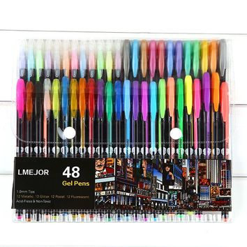 Multicolour flash 48 copic markers neon metal doodle pens eco-friendly drawing pen papelaria kawaii school supplies