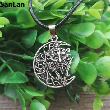 Celtic Green Man necklace  Wicca Pagan God Tree Spirit Unisex