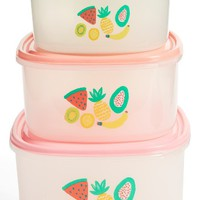 Rice Tutti Frutti Set of 3 Square Food Boxes | Nordstrom
