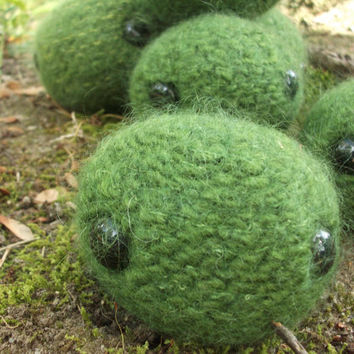 Marimo plush, Moss Ball plush, Amigurumi Marimo, stuffed animal Marimo, knit Marimo, felted wool Marimo, ready to ship!