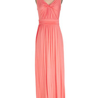 ModCloth Long Sleeveless Maxi Adore Power to You Dress in Hibiscus