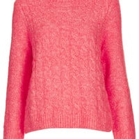 Knitted Felted Cable Jumper
