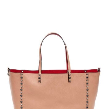 VALENTINO Guitar Rockstud rolling reversible leather tote