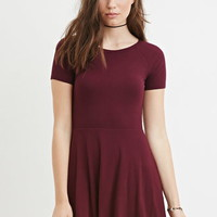 Micro-Ribbed Skater Dress