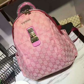 One-nice™ GUCCI Pink Casual Shoulder SchoolBag Satchel Handbag Backpack bag H-AGG-CZDL