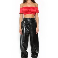 KELLY CROP - RED