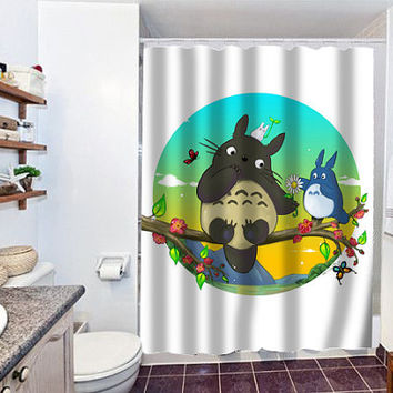 totoro special custom shower curtain