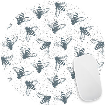 Grunge Bees Mouse Pad Decal