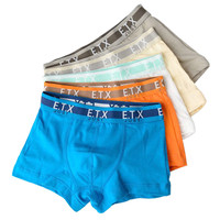 5 Pcs/lot Kids Boys Underwear Soft Cotton Comfortable Pure Color Children's Boy Boxer 2-16Y Shorts Panties Teenage Underwear