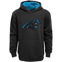 Youth Carolina Panthers Black Fan Gear Prime Pullover Hoodie