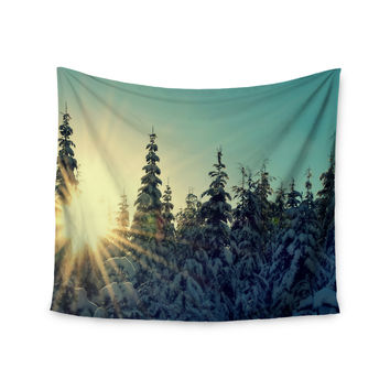 "Robin Dickinson ""Shine Bright"" Snowy Trees Wall Tapestry"