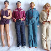 Lot of  6 Ken BOY BAND Dolls Vintage Nice Condition Mattel Hasbro Circa 1970 to 1990s Through the Ages