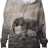 May the Stars Carry Your Sadness Away (Elephant Dreams) Hoodie Sweatshirt created by soaringanchordesigns | Print All Over Me