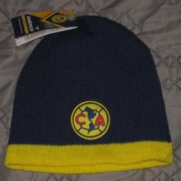 Nwt Club America Soccer Beanie Winter Hat Cap Skullie Mexico Football Jersey Shirt