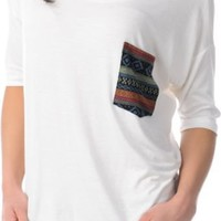 Lira Girls Mayan Natural White Top at Zumiez : PDP