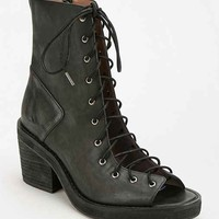 Jeffrey Campbell Merry Widow Peep-Toe Lace-Up Boot-