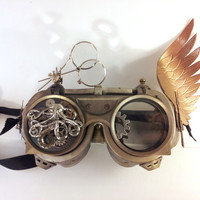 Steampunk Goggles with Octopus, Gears, Jeweler's Loops, and More!