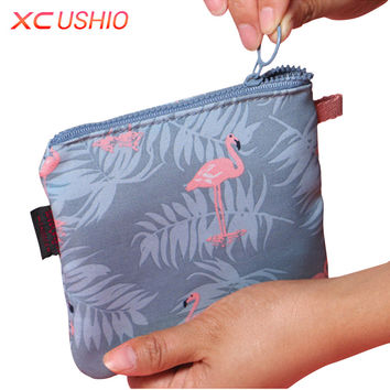 Simplicity Series Portable Sanitary Napkin Storage Bag Canvas Sanitary Pads Bag Sewing Kit Coin Purse Credit Card Holder Bags