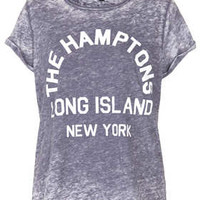 Hamptons Burnout Tee - Tops  - Clothing