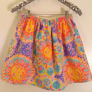 Lilly Pulitzer Light Iris Blue Written In The Sun RESORT Skirt