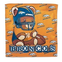 "Denver Broncos / Littlest Fan NFL Burp Cloth 16"" x 16"""