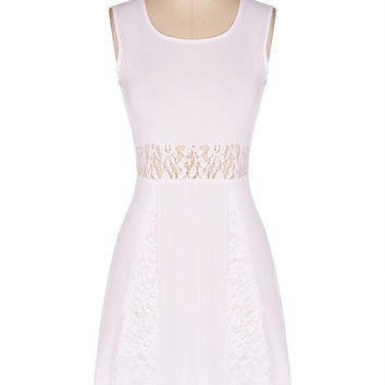 Fashion Women Summer Lace Sleeveless Evening Party Cocktail Sexy Short Dress F_F