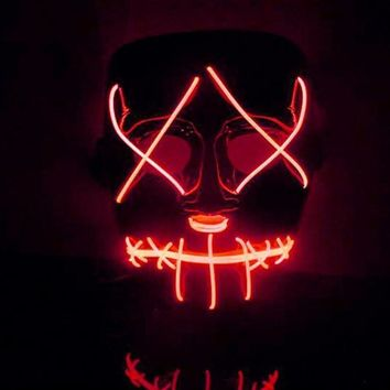 Hot Sale New Halloween Mask LED Light Up Funny Mask from The Purge Election Year Halloween Party Decoration