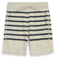 Boy's Tailor Vintage Stripe French Terry Shorts,