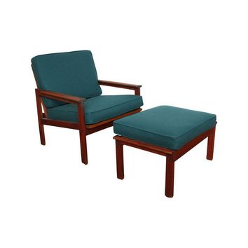 Pre-owned Mid-Century Danish Teak Chair & Ottoman