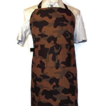 Male Reversible Apron - Camo / Camouflage - Green