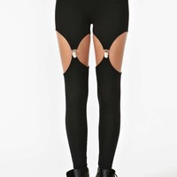 Nasty Gal Garter Leggings