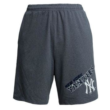 New York Yankees Men's Shorts MLB Tactic Jam Knit Casual Lounge Short Pockets