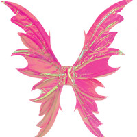 costume accessory: fairy wings-opal pink deluxe