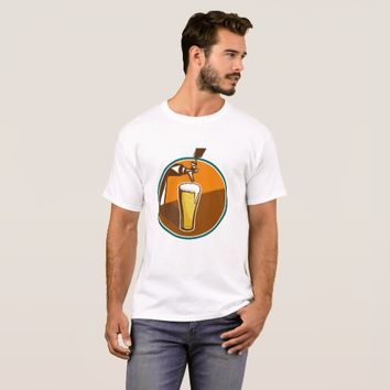 Beer Pint Glass Tap Retro T-Shirt