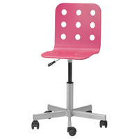 JULES Junior desk chair - pink/silver color  - IKEA