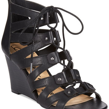 American Rag Carter Lace Up Ghillie Wedge Sandals
